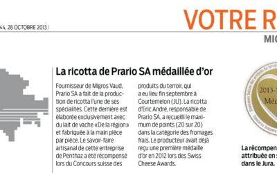 Migros Magazine Octobre 2013