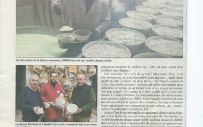 Journal Echallens Nov. 2012