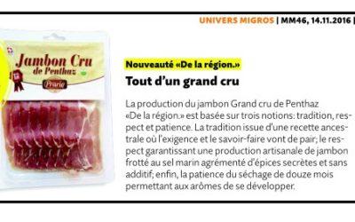 Migros magazine Jambon Cru DLR